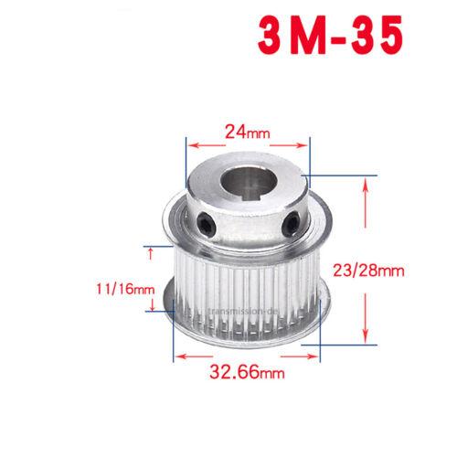3M Riemenscheibe 20-60 Zähne Zahnrad 20-60T Pulley für 10//15mm Breite Zahnriemen