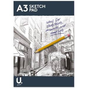 A3-A4-Sketch-Pad-Book-White-Paper-Artist-Sketching-Drawing-Doodling-Art-Craft-UK