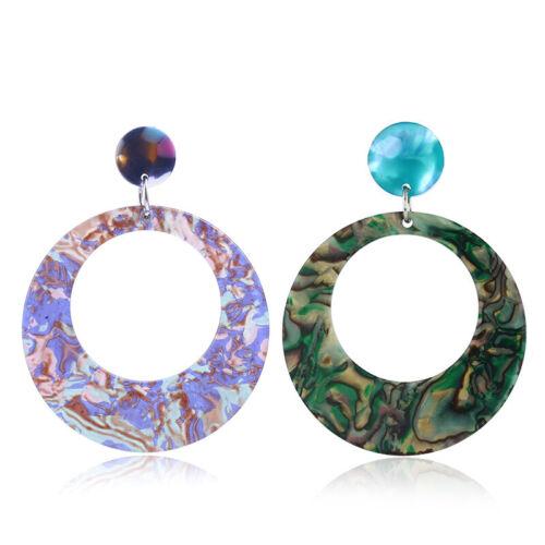 NEW Women Geometric Acrylic Resin Earring Drop Dangle Stud Hook Earrings Jewelry