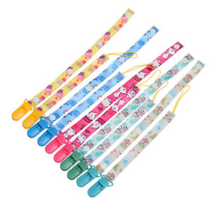 Nipple Strap Infant Colorful Pacifier Chain Baby Teething Soother Dummy Clips