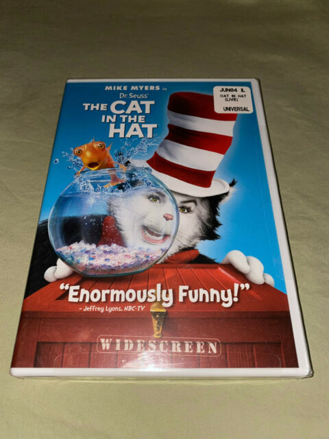 Dr. Seuss The Cat in the Hat DVD NEW Widescreen Kids Family Movie Mike Myers