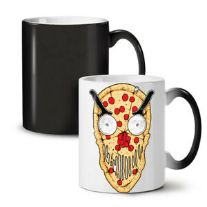 Pizza Face Slice Funny NEW Colour Changing Tea Coffee Mug 11 oz | Wellcoda