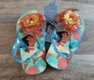 NWT Girls Disney Moana sandals, flip flops size 7/8 toddler