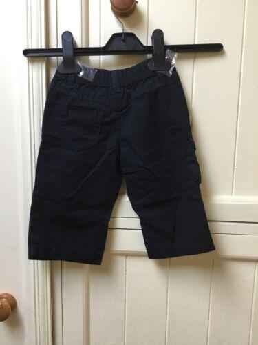Baby Boy Black Combat Trousers Size 3-6 Months
