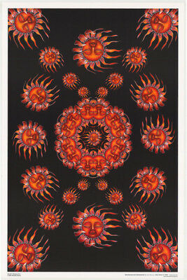 LOT OF 2 POSTERS: PSYCHEDELIC :  SLEEPING SUN  - FLOCKED       #FL3317   RC42 H