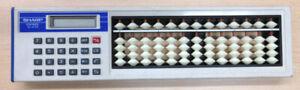 Sharp-ElsiMate-Abacus-Calculator-Solocal-EL-428-Soroban-Calculator-rare-Japan