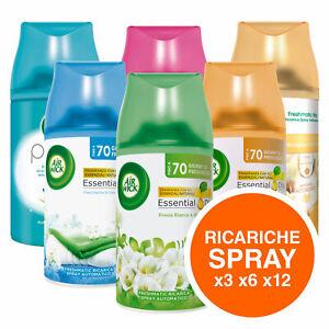 Air Wick Ricariche Spray Freshmatic Profumatore Ambiente Pack a Scelta 250 ml