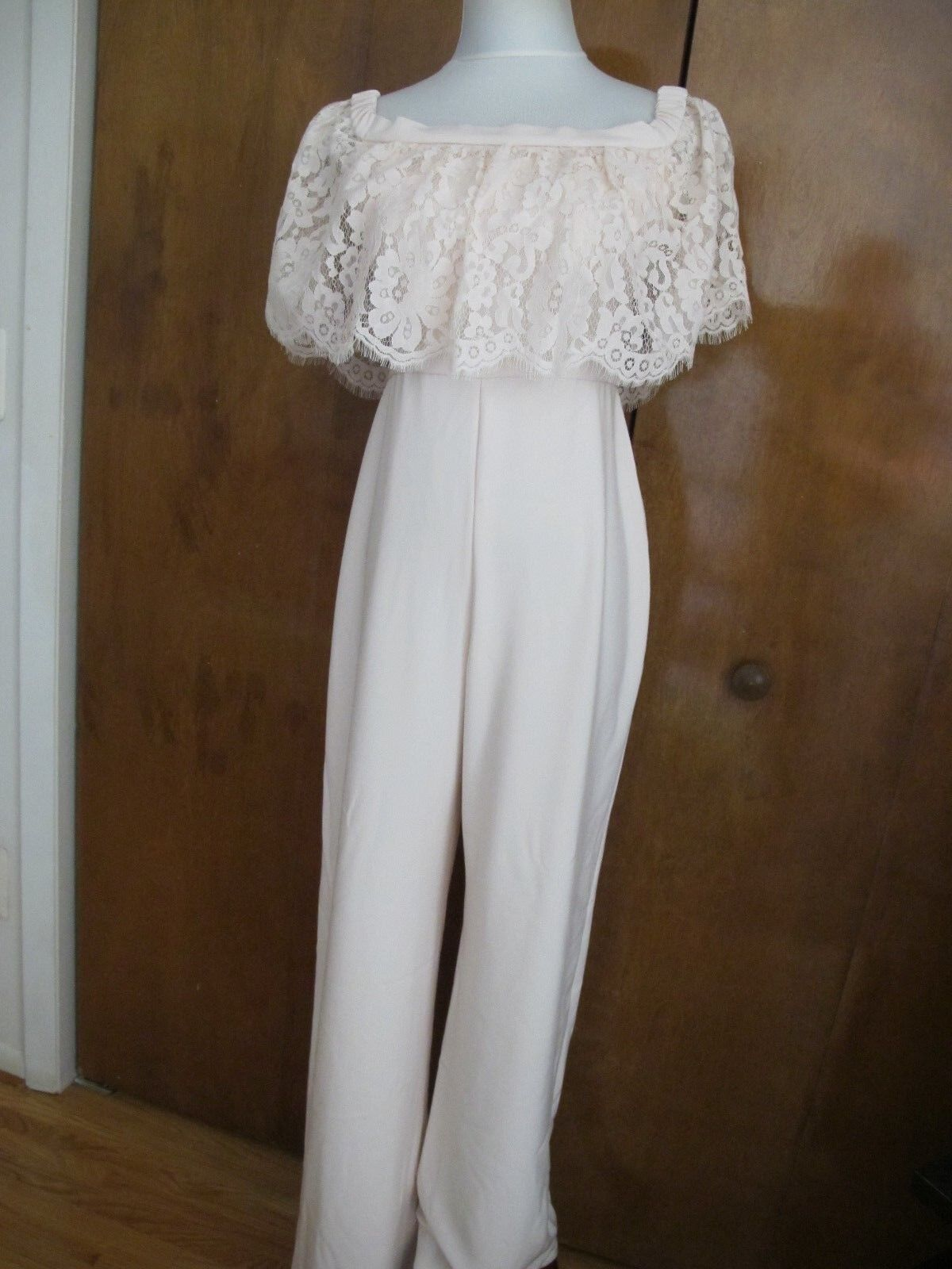 Anthropologie Theia Bridesmaids Women's pink Evening Jumpsuit size 4 NWT