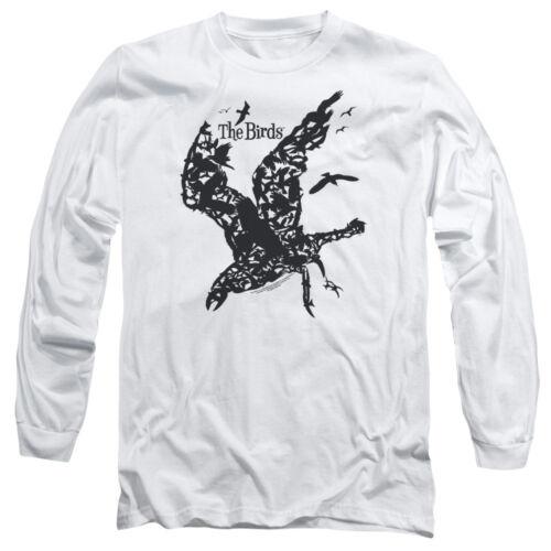 Les oiseaux Movie Poster Bird Collage Alfred Hitchcock T-Shirt à Manches Longues S-3XL