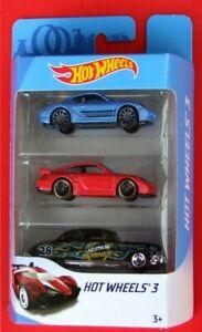 Hot-Wheels-2018-Porsche-Cayman-S-Porsche-911-gt2-Hudson-Hornet-neu-amp-ovp