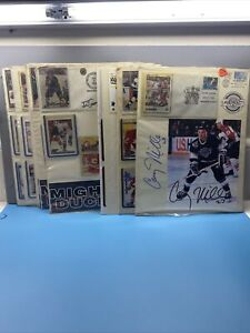 NHL Autographed Items Lot of 14- Great Hockey Items to be framed!