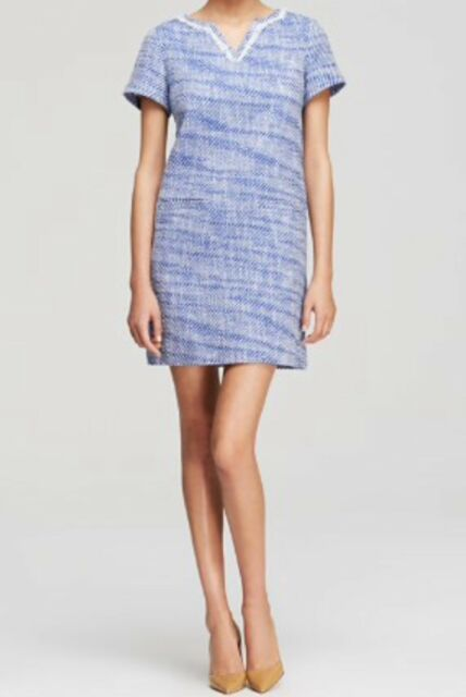 New $358 Kate Spade NY Graphic Tweed Tunic Mini Dress Size 0 Blue