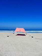Neso Beach Tent with Sand Anchor, Portable Canopy for Shade - Coral