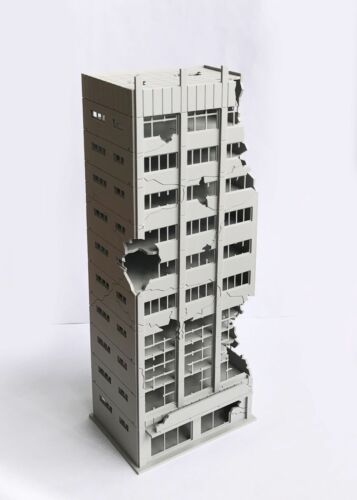 Outland Building Model N Scale Damaged Abandoned Building Model N Scale