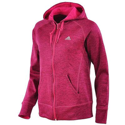 adidas Damen ClimaWarm Jacke Kapuzenjacke Fleece Fullzip Hoody maroon NEU | eBay