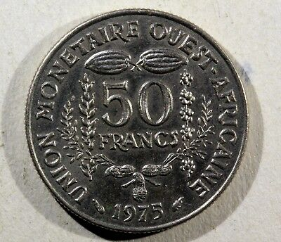 Enthusiastic Monnaie Africa West 50 Francs 1975 Cupro-nickel Ak86 Coins: World South Africa