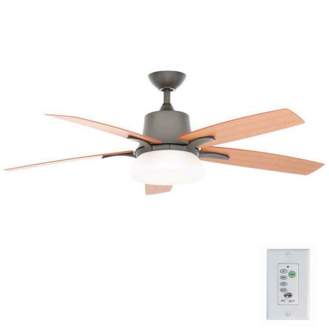 Hampton Bay Waleska Ii 52 Quot Indoor Outdoor Natural Iron Ceiling Fan Wall Control For Sale Online