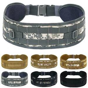 Mens-Military-Tactical-Waistband-Airsoft-Combat-Padded-Adjustable-Buckle-Belt-US