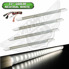 "4x RV LIGHT BULB T5 12"" fluorescent tube replacement LED 400 Lumen Neutral White"