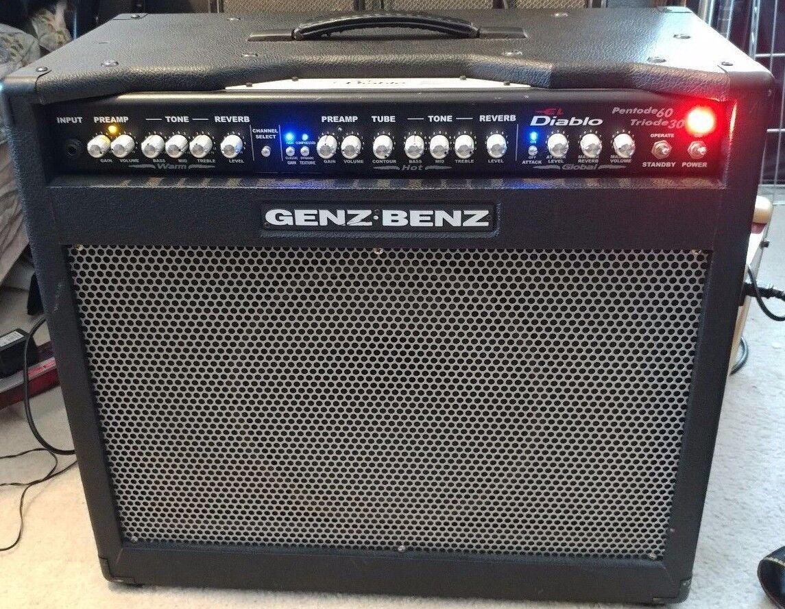 Genz Benz El Diablo 60W 30W 1x12 Guitar Combo Amp.HUGE closed back cab 30 or 60w