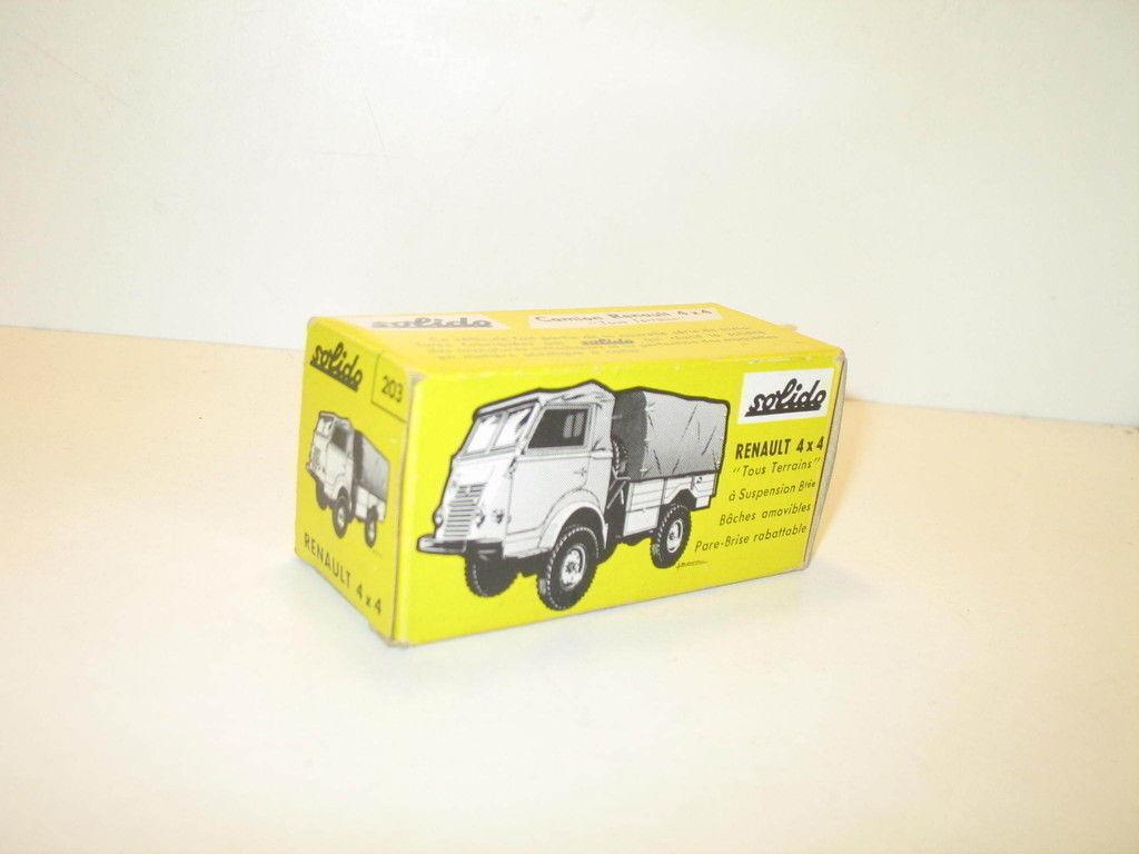 N02, Caja camión renault 4X4 militar repro SOLIDO