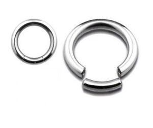 PAIR-2-STEEL-SEGMENT-RINGS-16G-CBR-EARRINGS-CAPTIVE-HOOPS-NOSE-TRAGUS-NIPPLE