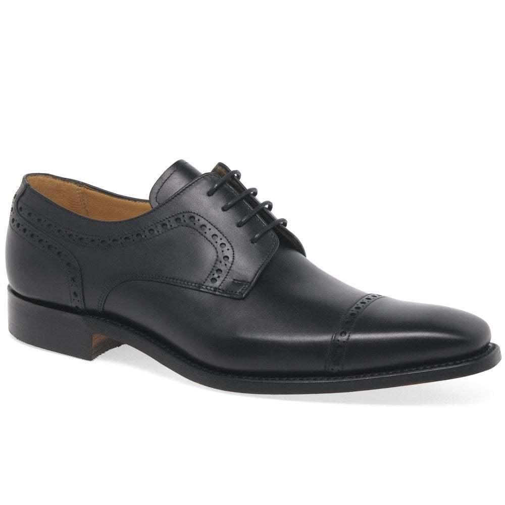 Barker Leo Mens formale in pelle pizzo up Derby scarpe