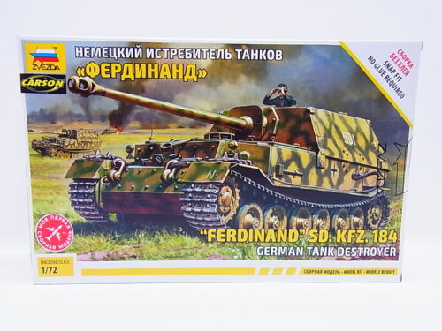 "59171Zvezda 5041 /""Ferdinand/"" SD.KFZ.184 German Tank 1:72 Bausatz NEU OVP"