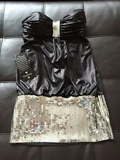 Women's BEBE Black Sequin Mini Dress Size M *TAGS STILL ATTACHED*