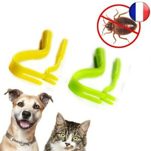 Tique-Twister-Remover-Crochet-Outil-Pack-x-2-Tailles-Cheval-Chien-Chat-Pet-Puce