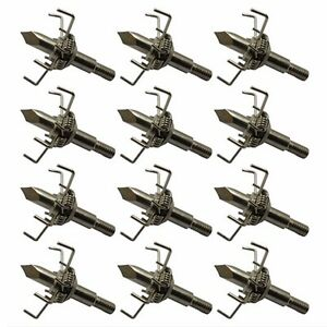 12pcs Archery Target Broadheads 25gr Arrow Points Fit Tips for Small Animal Game