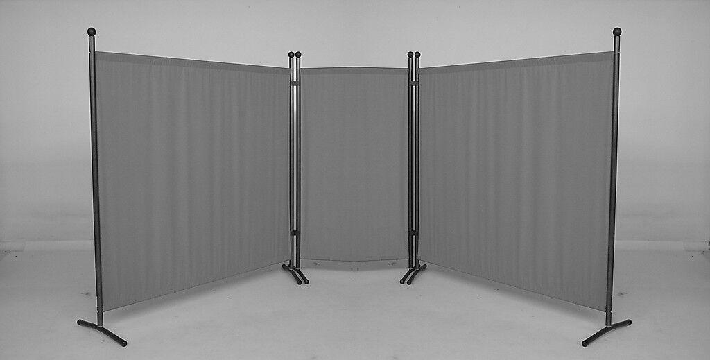 3-tlg. Set Stellwand Sichtschutz für den Innen- und Außenbereich