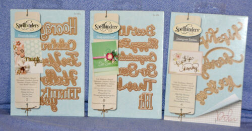 Sentiments Shapeabilities Phrases you choose//comb ship:NEW Spellbinders lot
