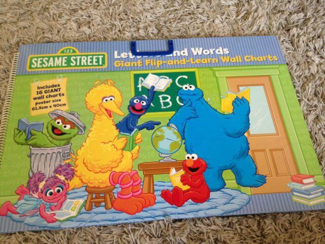 Sesame street letters and words Giant Flip and learn wall charts numbers alphabe