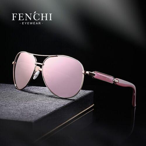 FENCHI Classic Aviator Sunglasses For Women Polarized Mirrored Lens Eyewear 2020