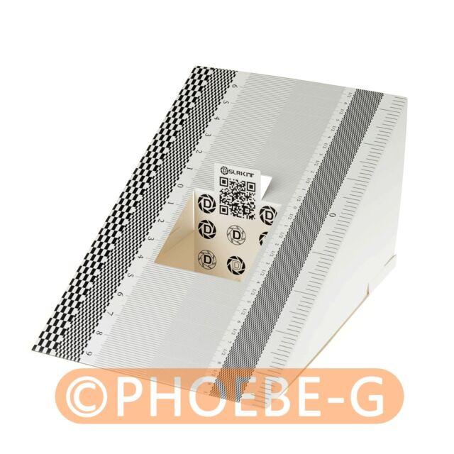 DSLRKIT Lens Focus Calibration Alignment AF Micro Adjustment Ruler Folding Card