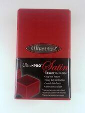 Ultra Pro Satin Tower Deck Box Deckbox Red / rot