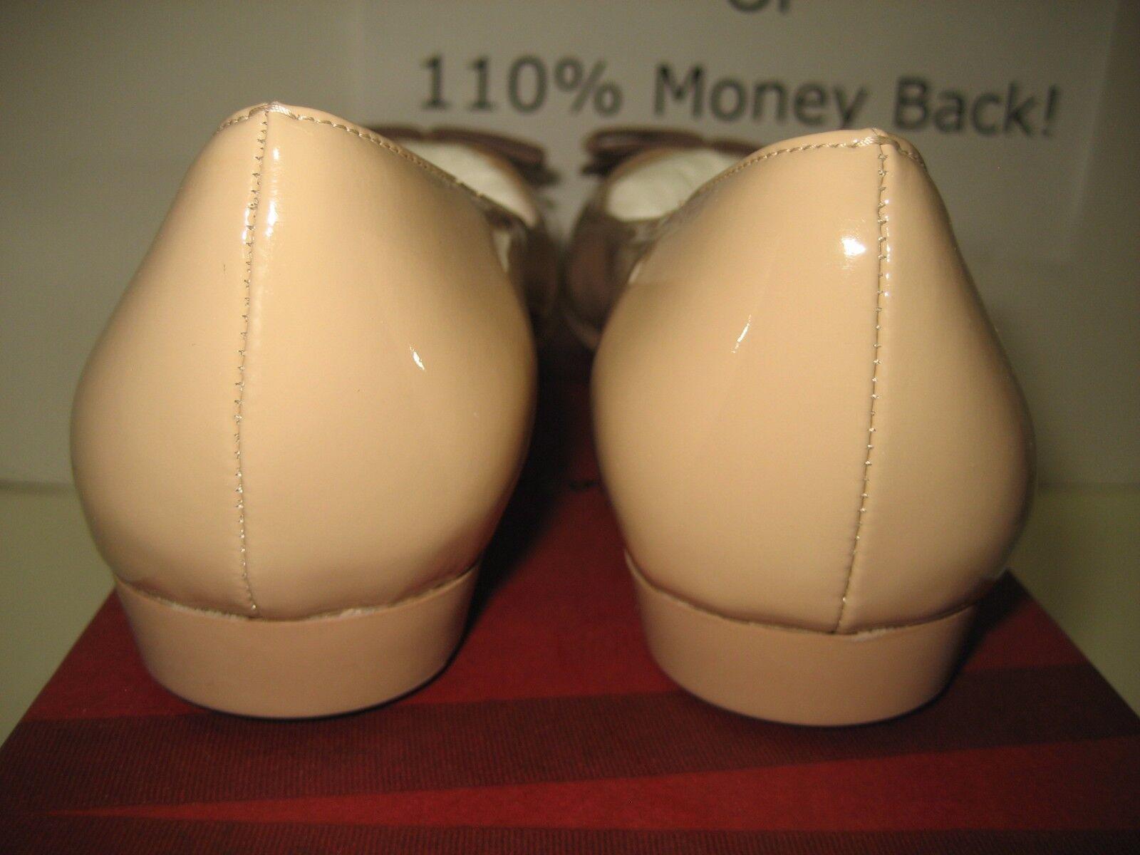 495 NEW Salvatore Ferragamo US 7.5 My Cherie Beige Beige Beige Leather Ballet Flats chaussures 093754