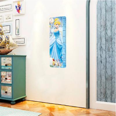 disney princess cinderella growth height chart wall sticker decals