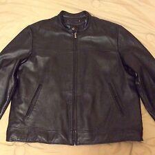 NEW! WILSONS LEATHER M.Julian Man's Black Leather Motorcycle Jacket HEAVY Sz XL