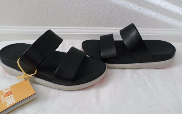 New Fitflop Women's Loosh Slide Sandals Black Size 10
