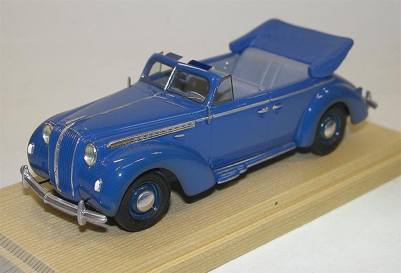 Opel Admiral cabriolet, année modèle 1938, bleu, resinemodell à la main 1 43