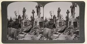 Cemetery-France-Premiere-Guerre-World-WW1-Photography-Stereo-Vintage