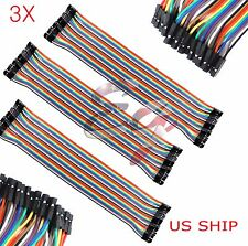 3x 40pcs 30cm 25mm Female To Female Dupont Wire Jumper Cable Arduino Breadboard