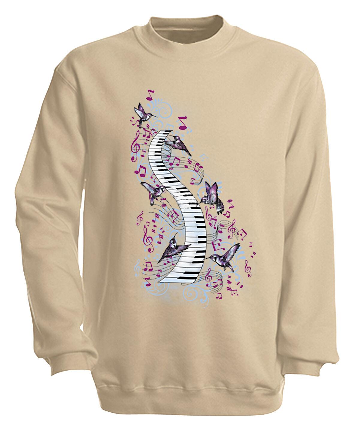 (09018-1 sand) Sweatshirt S M L XL XXL 3XL 4XL 4XL 4XL Musik Shirts - KLAVIER TASTEN 43729d