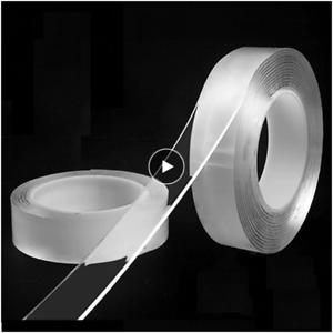 1m Reusable Double-Sided Adhesive Multipurpose Nano-Adhesive Tape No Trace Washe