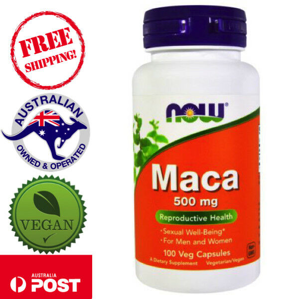 Now Foods Maca 500 mg 100 Vegan Caps Sexual Well-Being Non-GMO