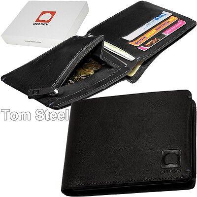 Zip Coin Pocket Briefcase Men's Zip Purse Delsey Wallet Leather 3219110284959 | eBay