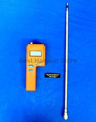 "3 Year Warranty Delmhorst F2000 Hay Meter Moisture Tester 10/"" Probe Deluxe Pkg"