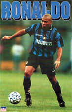 Rare Vintage RONALDO Inter Milan c.1997 Brazil Soccer Superstar POSTER